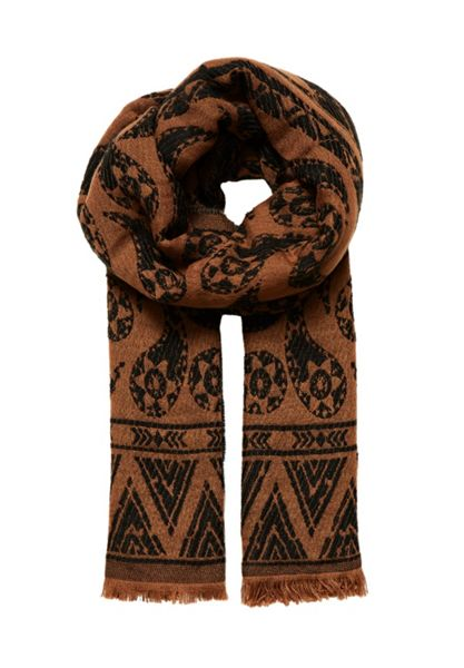 Hallhuber Double-layer jacquard scarf