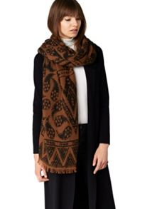 Hallhuber Double Layer Jacquard Scarf