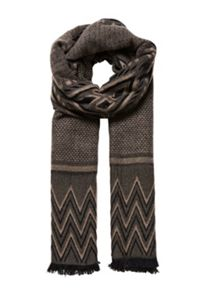 Hallhuber Jacquard scarf with pattern mix