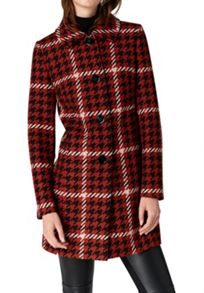 Hallhuber Retro-inspired houndstooth coat