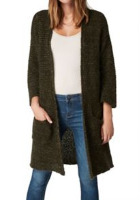 Hallhuber Long Cardigan With Lurex Elements