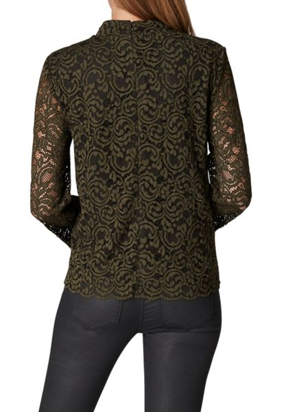 Hallhuber Lace blouse with contrast lining