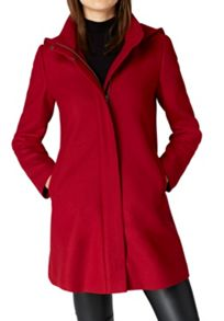Hallhuber Wool coat with hood and back pleat