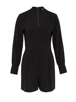 Playsuit with long sleeves