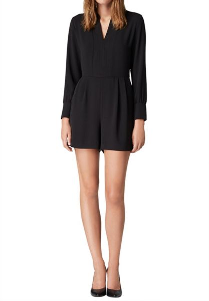 Hallhuber Playsuit with long sleeves