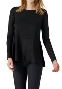 Hallhuber Wool jumper with ruffle detail