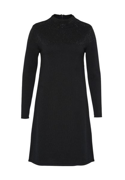 Hallhuber Knit dress with rhinestone accents