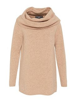 Wool Jumper with Wide Collar