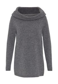 Hallhuber Wool Jumper with Wide Collar
