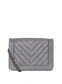 Quilted chain handle bag