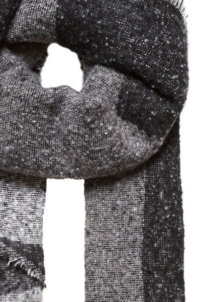 Hallhuber Winter scarf with graphic patterning