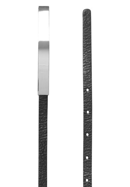 Hallhuber Leather belt with hardware clasp