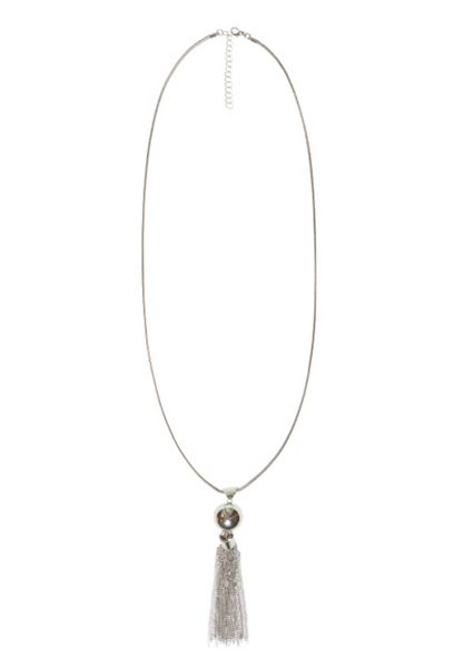 Hallhuber Long Necklace With Sphere And Tassel