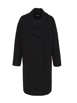 Oversized coat made of wool jersey