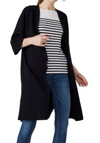 Hallhuber Kimono knit coat with side vents