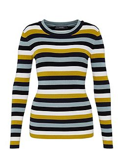 Fine knit stripe jumper