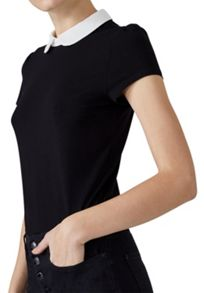 Hallhuber Rounded Collar Top