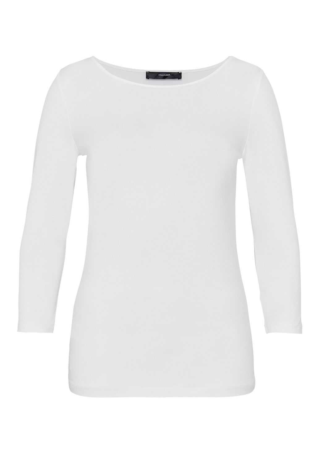 Hallhuber Boat Neck Top, White
