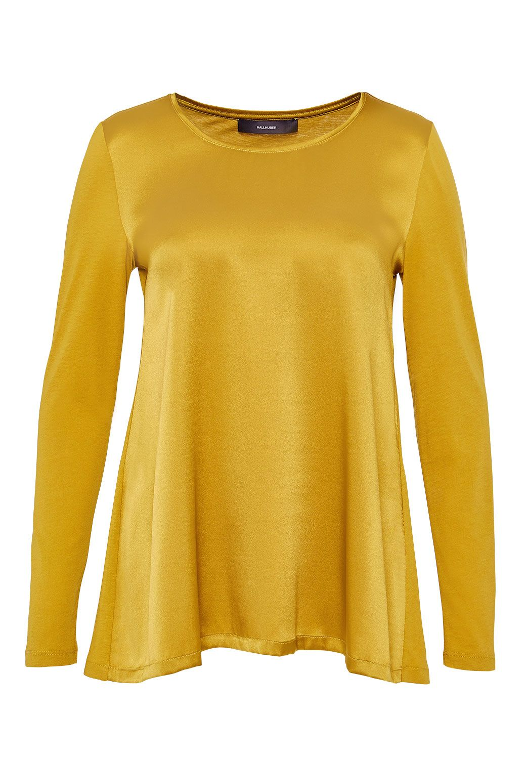 Hallhuber Hallhuber Swinging silk long sleeve, Yellow