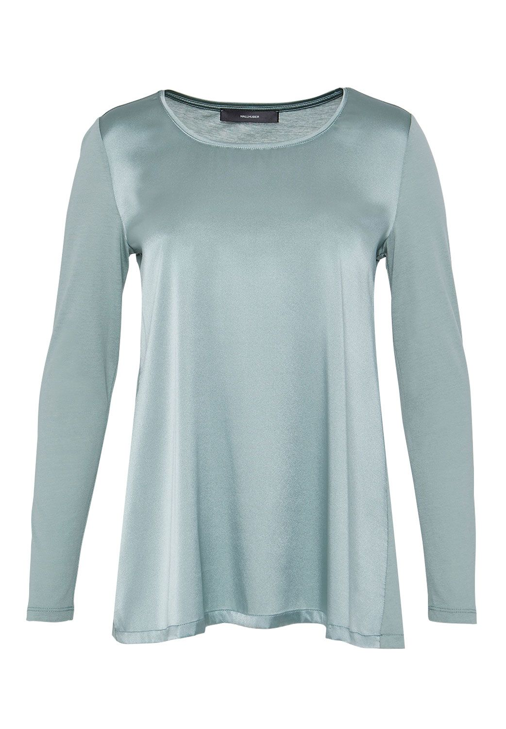 Hallhuber Hallhuber Swinging silk long sleeve, Green