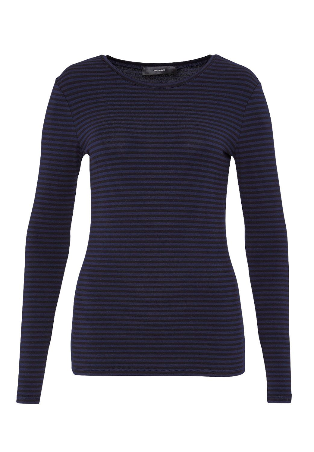 Hallhuber Hallhuber Striped long sleeve with round neckline, Blue