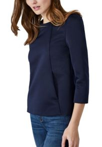 Hallhuber Boxy top with slanted pockets