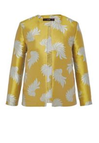 Hallhuber Jacquard jacket with leaf pattern