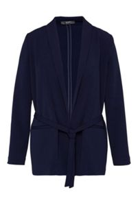 Hallhuber Shawl collar blazer with belt