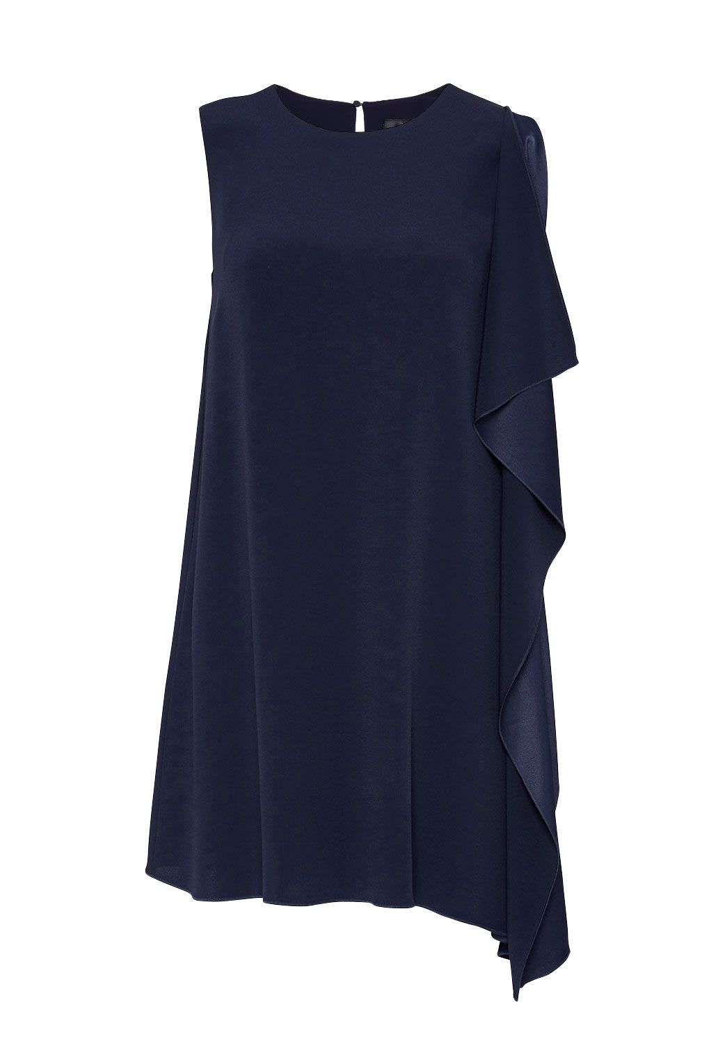 Hallhuber Asymmetric smock dress, Blue