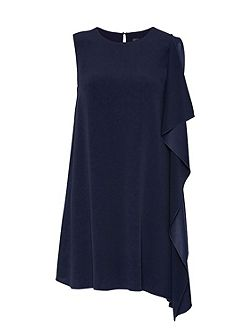 Asymmetric smock dress