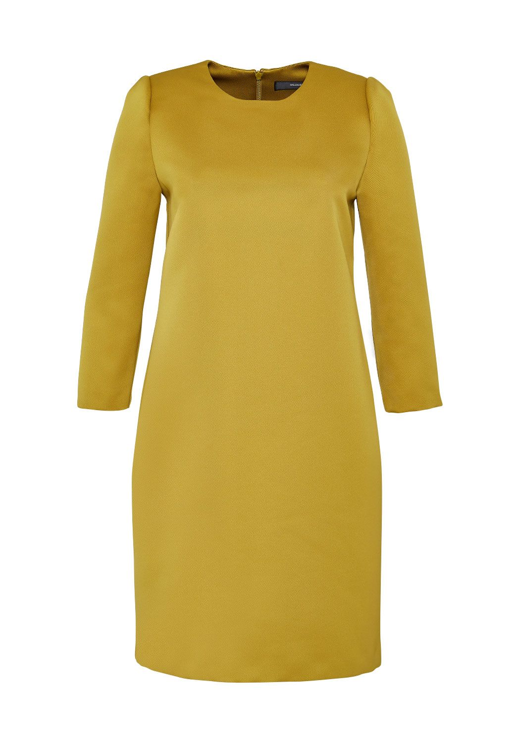 Hallhuber Hallhuber Satin dress with three-quarter sleeves, Yellow