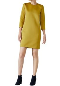 Hallhuber Satin dress with three-quarter sleeves