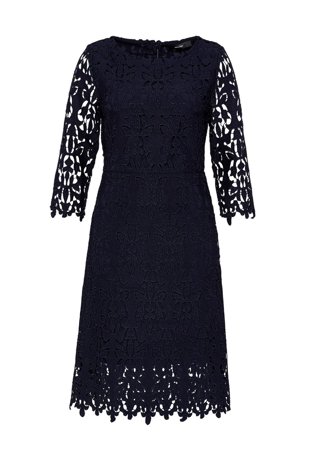 Hallhuber Lace shift dress, Blue