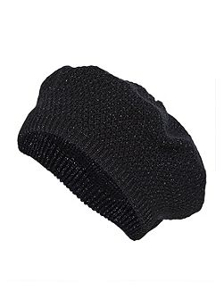 Knitted beret with Lurex