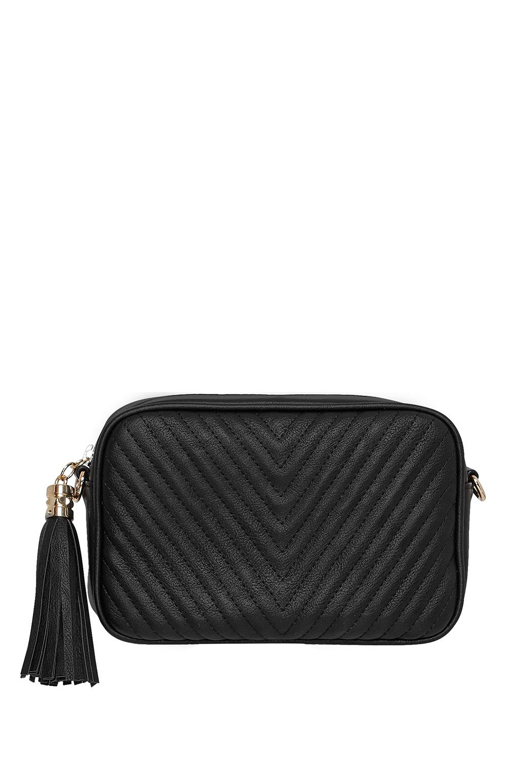 Hallhuber Quilted bag with two shoulder straps Black