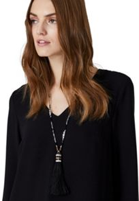 Hallhuber Elaborate tassel necklace