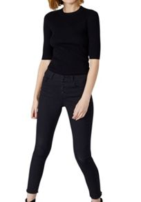 Hallhuber Buttoned skinny jeans with crop leg