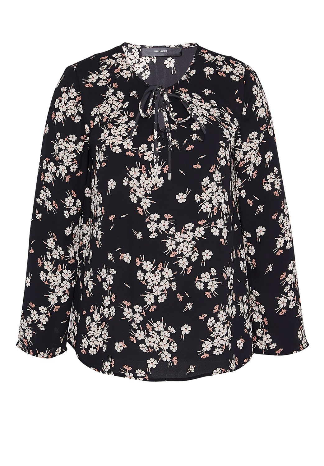 Hallhuber Swinging Blouse With Floral Print, Multi-Coloured
