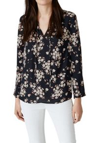 Hallhuber Swinging Blouse With Floral Print