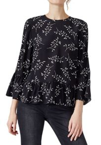 Hallhuber Silk blouse with back bow