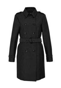 Hallhuber Trench coat with decorative stitching