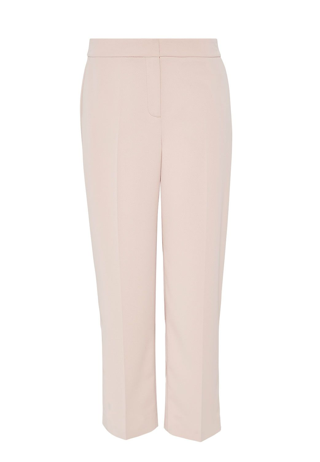 Hallhuber Cropped Marlene Trousers, Pink
