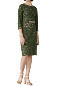 Hallhuber Lace Dress With Contrast Lining
