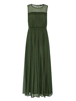 Maxi Dress Made Of Silk Chiffon