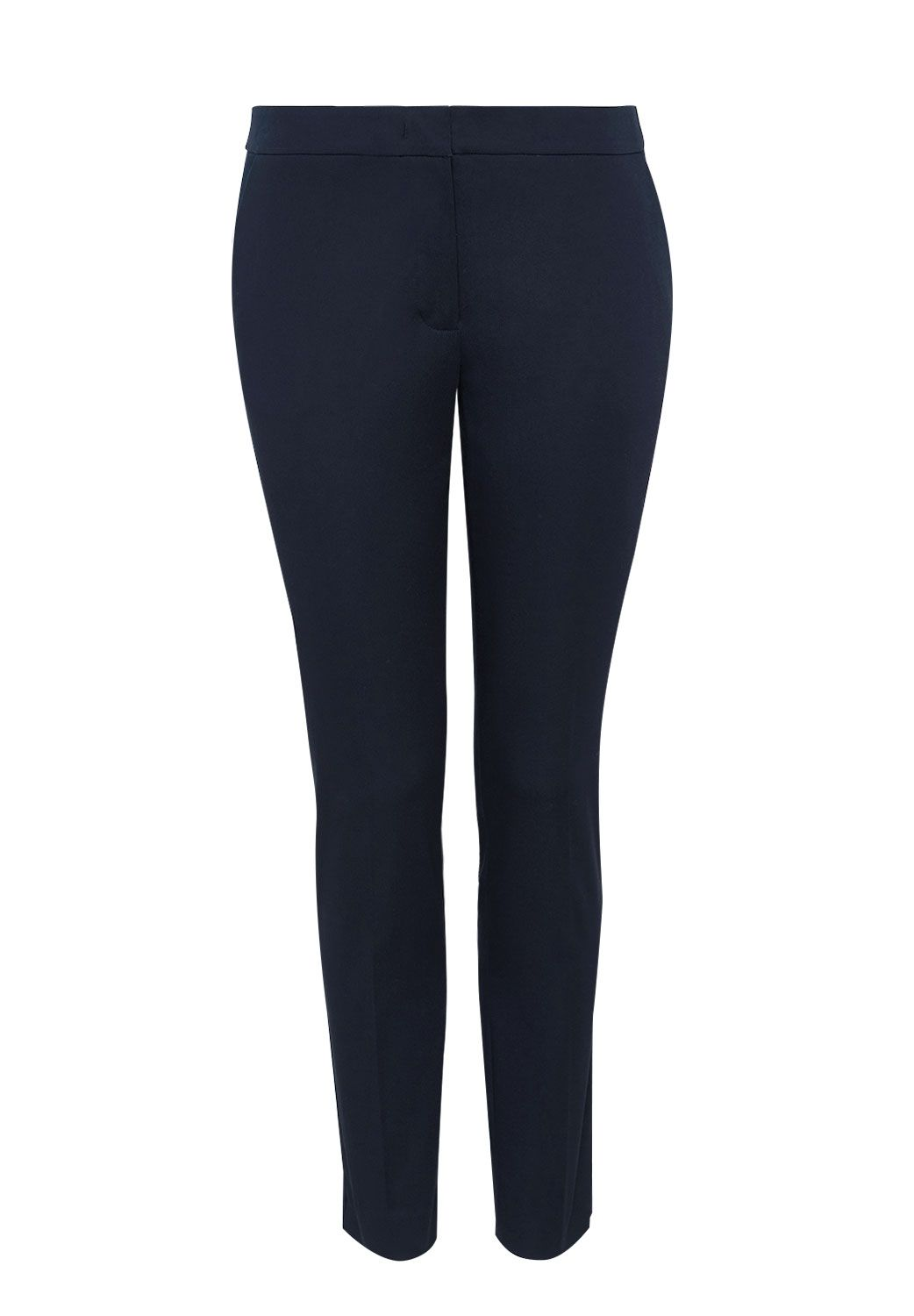 Hallhuber Side Vent Trousers Charlotte, Blue