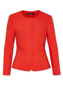 Hallhuber Peplum Blazer with welt pockets