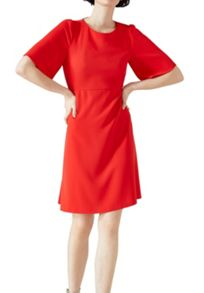 Hallhuber A-line dress with cap sleeves