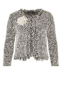 Hallhuber Textured Cardigan With Appliqu?® Flower