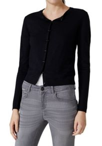 Hallhuber Crop Cardigan With Decorative Buttons