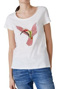 Hallhuber Hummingbird Embroidery Top